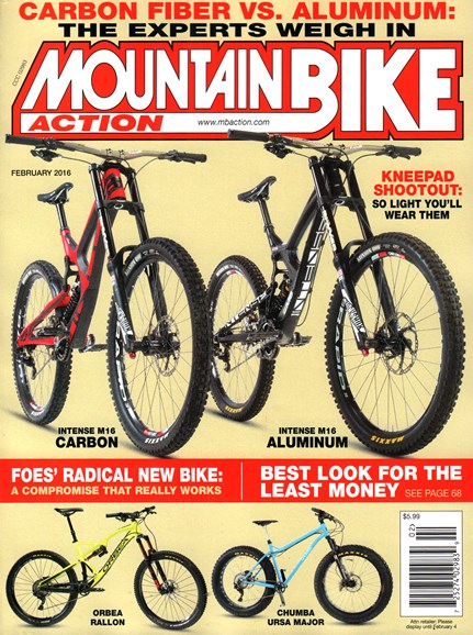 Mountain Bike Action Cover - 2/1/2016