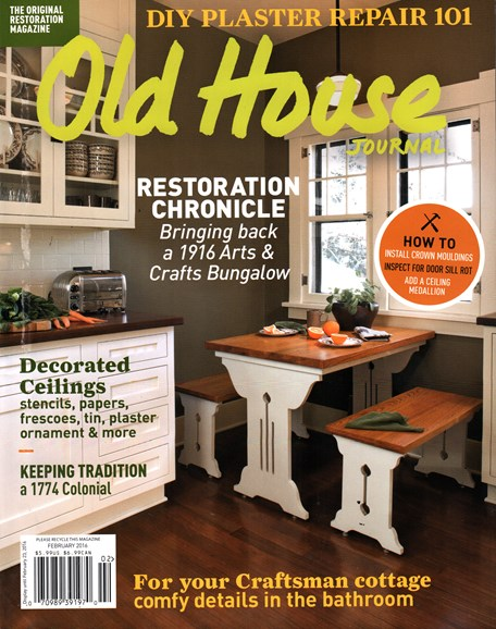 Old House Journal Cover - 2/1/2016