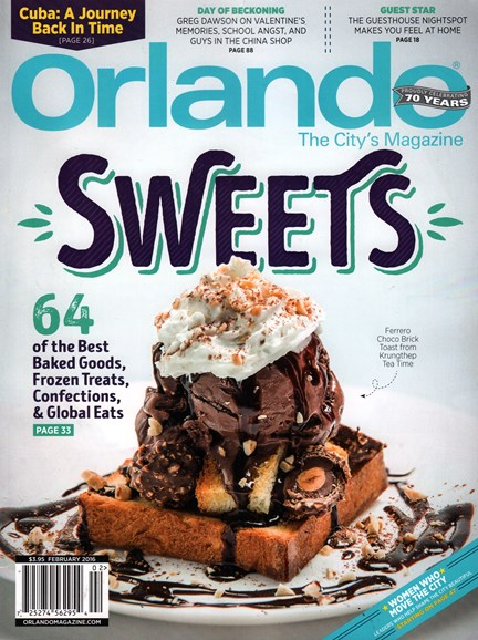 Orlando Magazine Cover - 2/1/2016