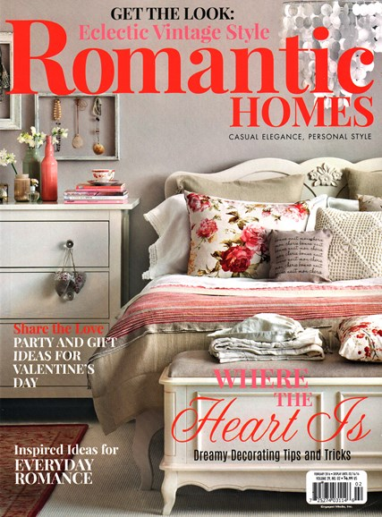 Romantic Homes Cover - 2/1/2016