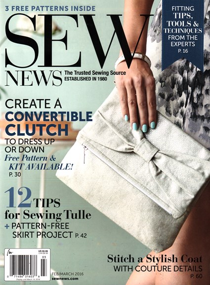 Sew News Cover - 2/1/2016