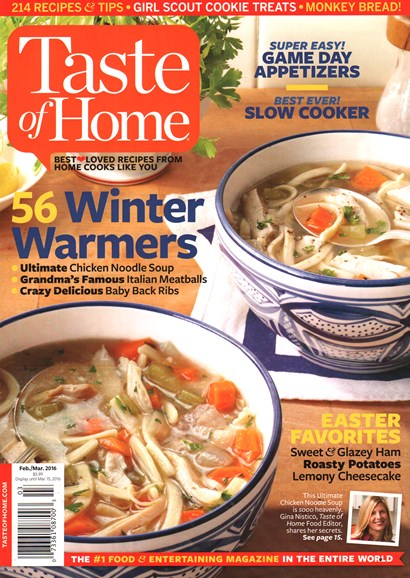 Taste of Home Cover - 2/1/2016