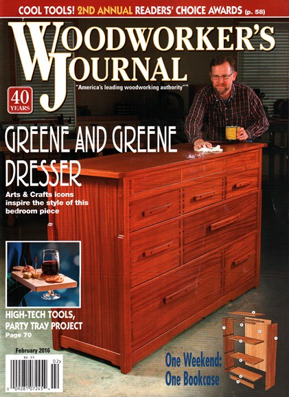 Woodworker's Journal Cover - 2/1/2016