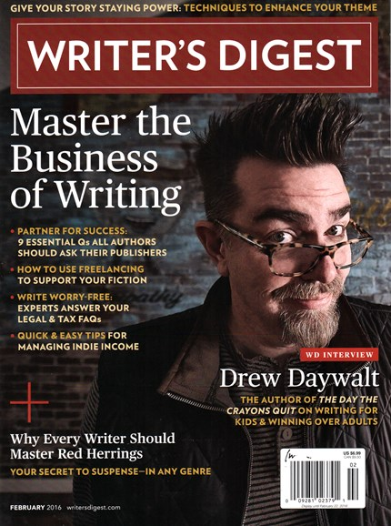 Writer's Digest Cover - 2/1/2016
