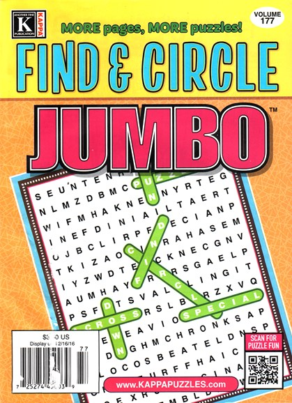 Find & Circle Jumbo Cover - 3/1/2016