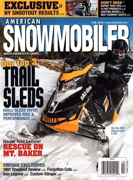 American Snowmobiler Cover - 2/1/2016