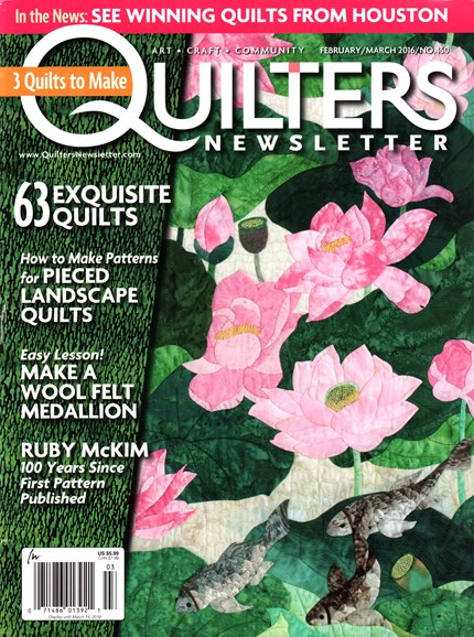 Quilter's Newsletter Cover - 2/1/2016