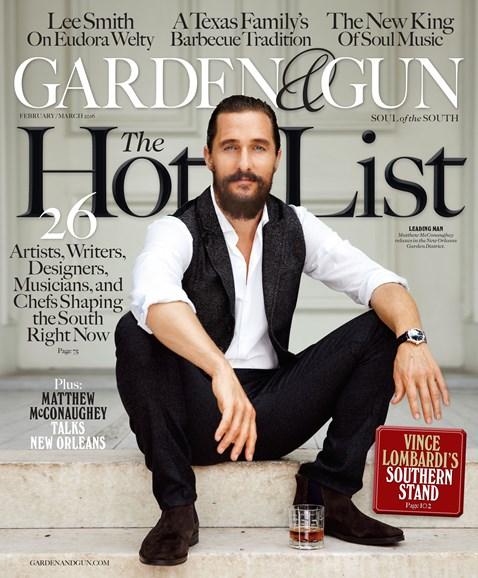 Garden & Gun Cover - 2/1/2016