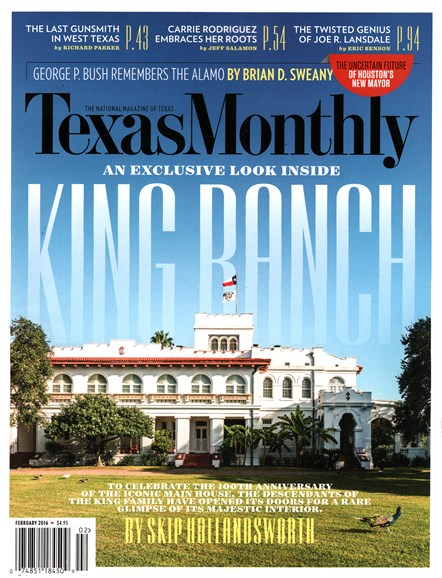 Texas Monthly Cover - 2/1/2016