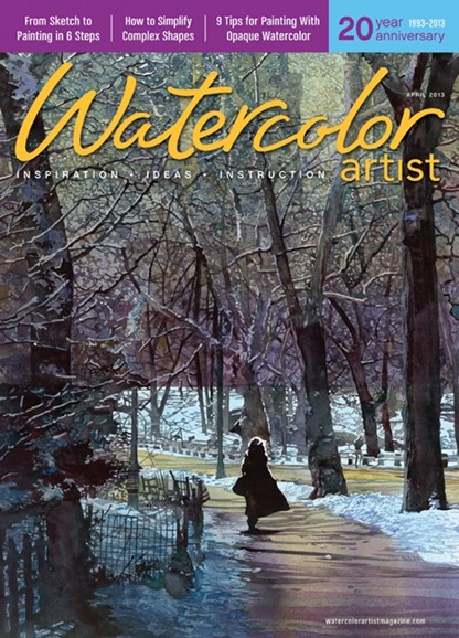 Watercolor Artist Cover - 4/1/2013