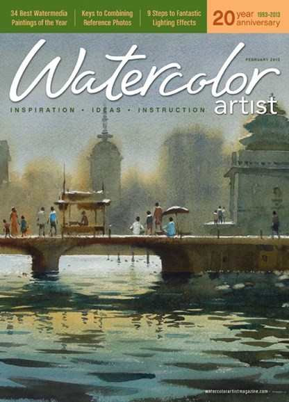 Watercolor Artist Cover - 2/1/2013