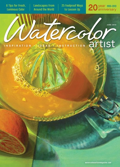 Watercolor Artist Cover - 6/1/2013