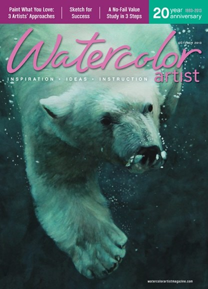 Watercolor Artist Cover - 10/1/2013