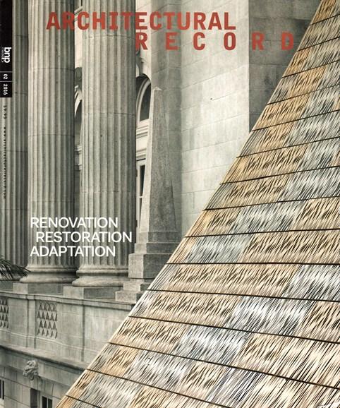 Architectural Record Cover - 2/1/2016