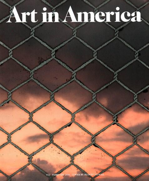 Art In America Cover - 2/1/2016