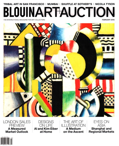 Blouin Art & Auction Cover - 2/1/2016