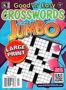 Good N Easy Crosswords Jumbo Magazine 4/18/2016