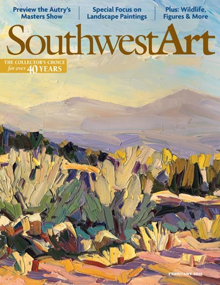 Southwest Art Cover - 2/1/2015