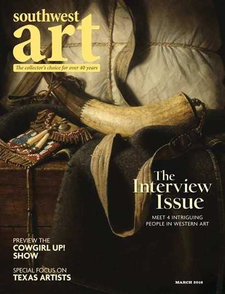 Southwest Art Cover - 3/1/2016