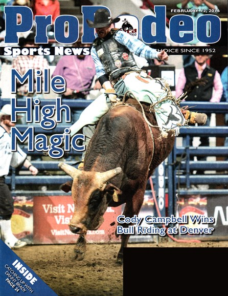Pro Rodeo Sports News Cover - 2/12/2016