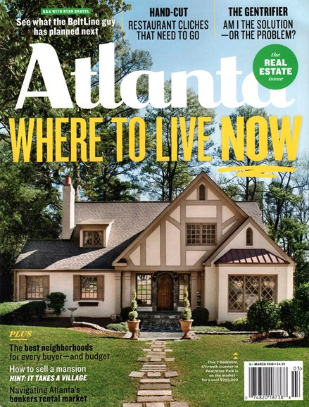 Atlanta Magazine Cover - 3/1/2016
