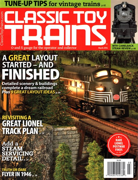 Classic Toy Trains Cover - 3/1/2016