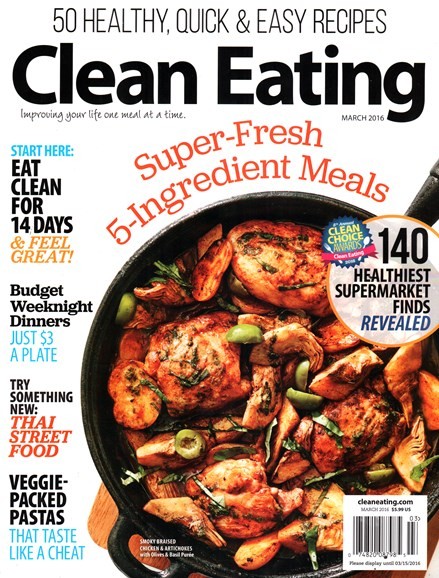 Clean Eating Cover - 3/1/2016