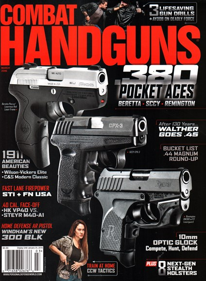 Combat Handguns Cover - 3/1/2016