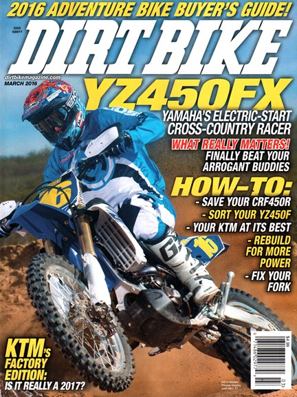Dirt Bike Cover - 3/1/2016