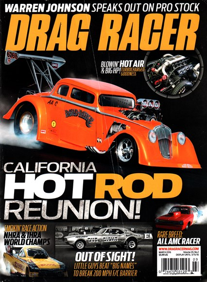 Drag Racer Cover - 3/1/2016