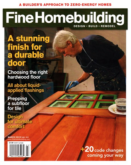 Fine Homebuilding Cover - 3/1/2016