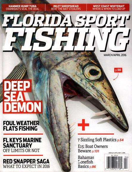 Florida Sport Fishing Cover - 3/1/2016