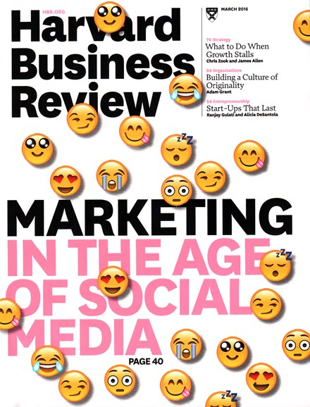 Harvard Business Review Cover - 3/1/2016