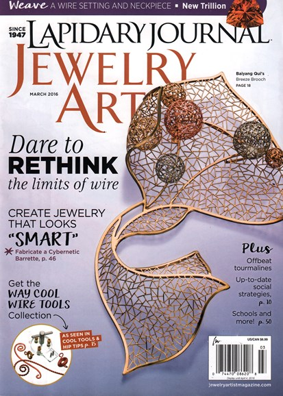 Lapidary Journal Jewelry Artist Cover - 3/1/2016