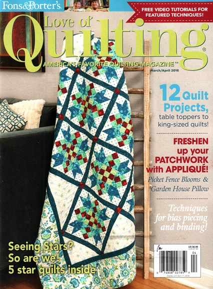 Fons & Porter's Love of Quilting Cover - 3/1/2016