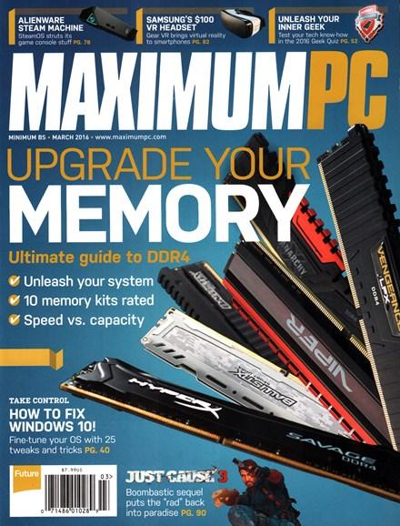 Maximum PC Cover - 3/1/2016