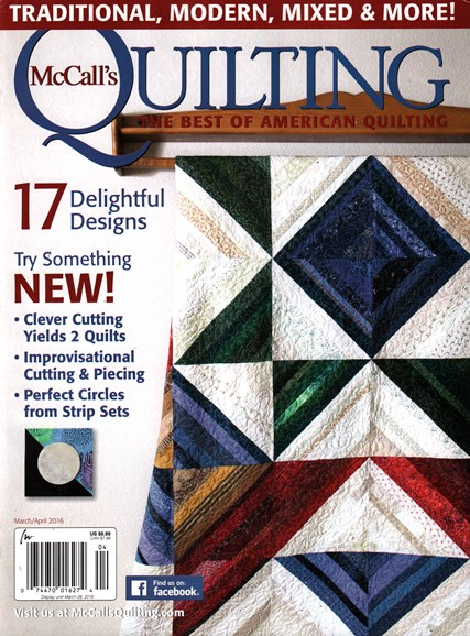 McCall's Quilting Cover - 3/1/2016