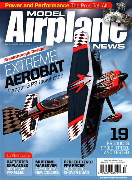 Model Airplane News Cover - 3/1/2016