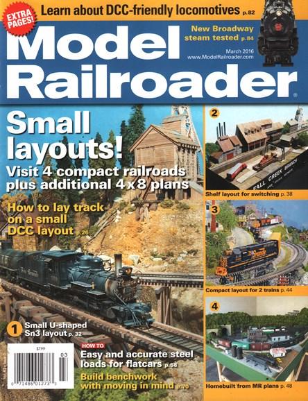 Model Railroader Cover - 3/1/2016