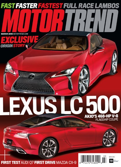 Motor Trend Cover - 3/1/2016