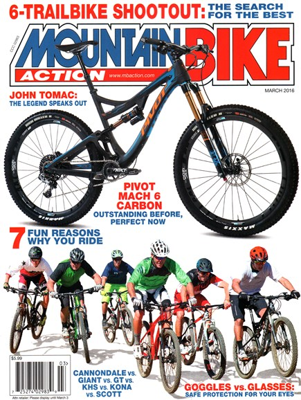Mountain Bike Action Cover - 3/1/2016