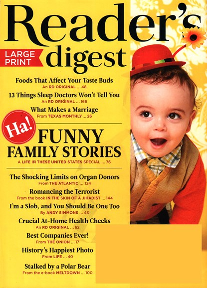 Reader's Digest - Large Print Edition Cover - 3/1/2016