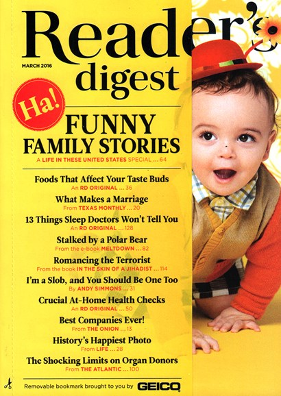 Reader's Digest Cover - 3/1/2016