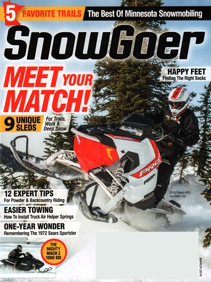 Snow Goer Cover - 3/1/2016