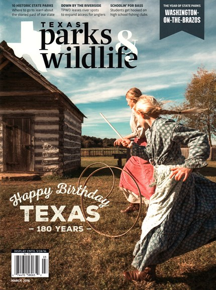 Texas Parks & Wildlife Cover - 3/1/2016
