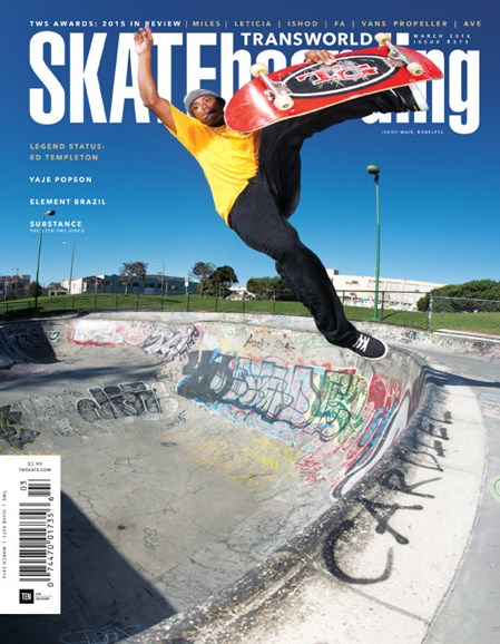 Transworld SKATEboarding Cover - 3/1/2016