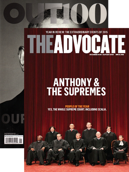Out & The Advocate Edition Cover - 12/1/2015