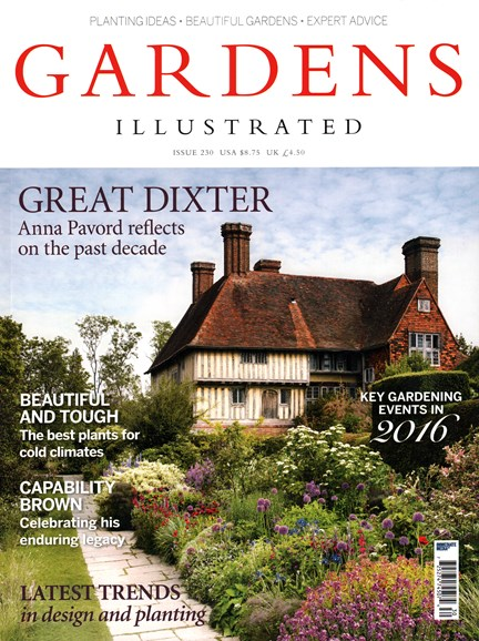Gardens Illustrated Cover - 1/1/2016