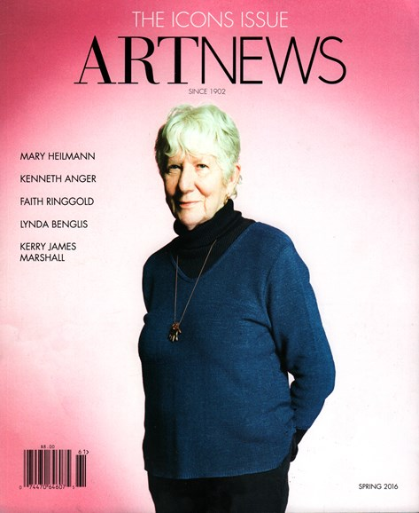 ARTnews Cover - 3/1/2016