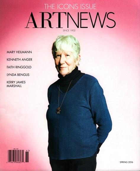 ARTnews Cover - 3/1/2016